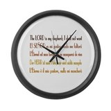 Intl Psalm 23 Large Wall Clock