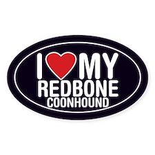 I Love My Redbone Coonhound Decal