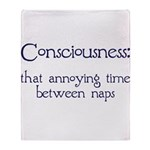 Consciousness Naps Throw Blanket