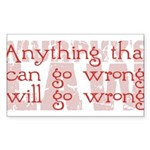 Murphy's Law Sticker (Rectangle 10 pk)
