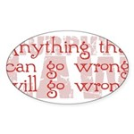 Murphy's Law Sticker (Oval 10 pk)