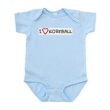 I Love Korfball Infant Creeper
