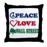 Peace Love Snowboard Throw Pillow