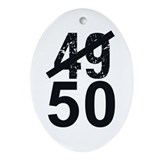Great 50th Birthday Ornament (Oval)