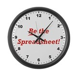 Be the Spreadsheet Large Wall Clock