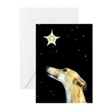 Greyhound Christmas Greeting Cards (Pk of 10)