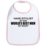 World's Best Mom - HAIR STYLIST Bib