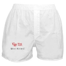 Fight Evil, Read Books! Boxer Shorts