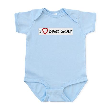 I Love Disc Golf Infant Creeper