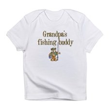 Grandpa's Fishing Buddy Creeper Infant T-Shirt