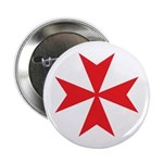 Red Maltese Cross 2.25&quot; Button