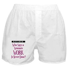 Retired Woman Boxer Shorts