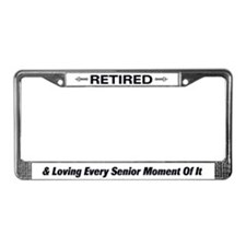 Retired Woman License Plate Frame
