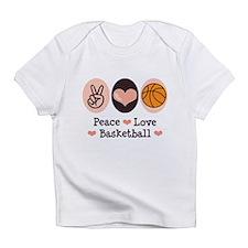 Peace Love Basketball Infant T-Shirt