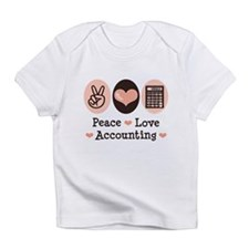 Peace Love Accounting Accountant Infant T-Shirt