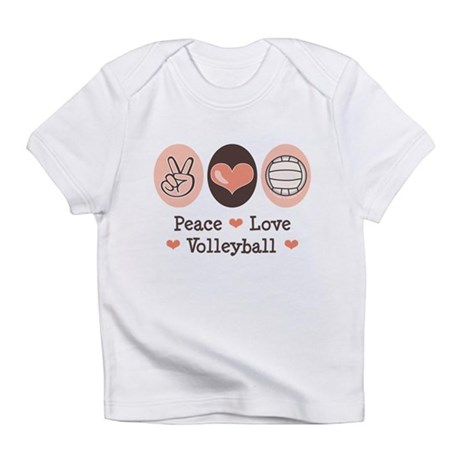 Peace Love Volleyball Infant T-Shirt