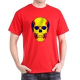 Color Skull Black T-Shirt