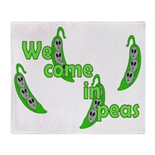 We Come In Peas Throw Blanket