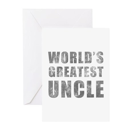 World's Greatest Uncle (Grunge) Greeting Cards (Pk