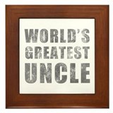 World's Greatest Uncle (Grunge) Framed Tile