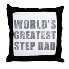 World's Greatest Step Dad (Grunge) Throw Pillow