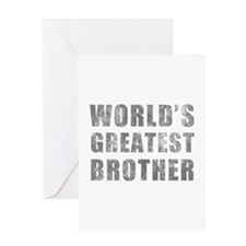 World's Greatest Brother (Grunge) Greeting Card