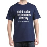 shirt color determines destiny - red shirts