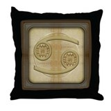 Cancer Zodiac Symbol Throw Pillow