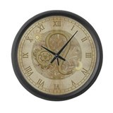 Leo Zodiac Symbol Large Wall Clock