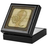 Leo Zodiac Symbol Keepsake Box