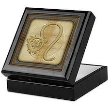 Leo Zodiac Symbol Keepsake Box