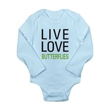 Live Love Butterflies Long Sleeve Infant Bodysuit