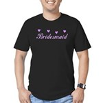 Bridesmaid Hearts Men's Fitted T-Shirt (dark)