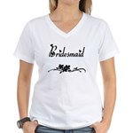 Classic Bridesmaid Women's V-Neck T-Shirt