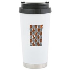 Morse Code A to Z Ceramic Travel Mug