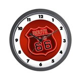 Route 66 Neon Wall Clock