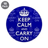 "Keep Calm and Carry On 3.5"" Button (10 pack)"