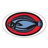Graphic Flounder Bumper Stickers