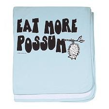 Eat More Possum baby blanket