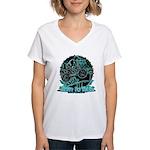 BMX Born to ride Women's V-Neck T-Shirt
