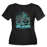 BMX Born to ride Women's Plus Size Scoop Neck Dark