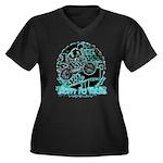 BMX Born to ride Women's Plus Size V-Neck Dark T-S