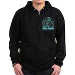 BMX Born to ride Zip Hoodie (dark)