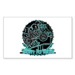 BMX Born to ride Sticker (Rectangle)