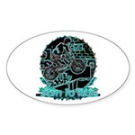 BMX Born to ride Sticker (Oval)