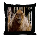 Capybara Staring Throw Pillow