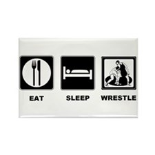 Eat Sleep Wrestle Rectangle Magnet