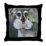 Schnauzer by Dawn Secoard Throw Pillow