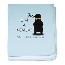 I'm a Ninja baby blanket
