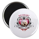 My Heart Belongs to a Bichon Frise Magnet
